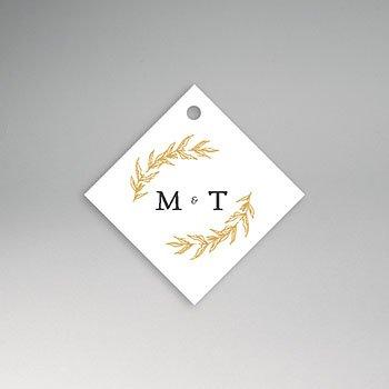 Etiket huwelijk - Nature Inspired & Gold - 0