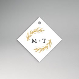 Etiket huwelijk Nature Inspired & Gold
