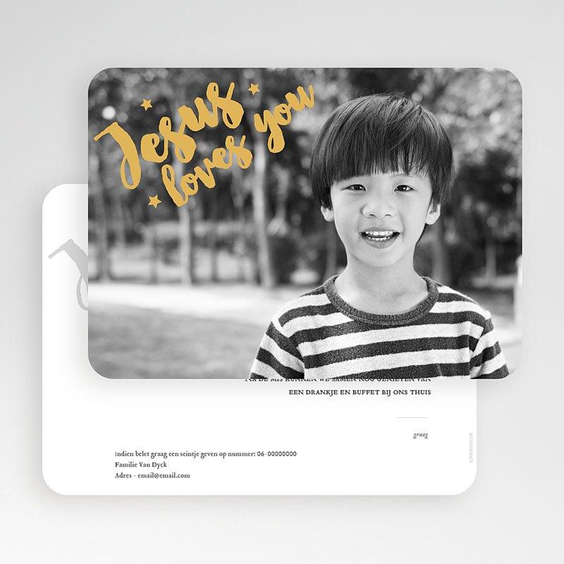 Uitnodiging communie jongen - Jesus Loves Us 62213 thumb