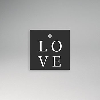 Etiket huwelijk - Typografisch en Chic - 0