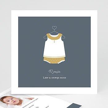 Geboortekaartje meisje - Rompertje - 0