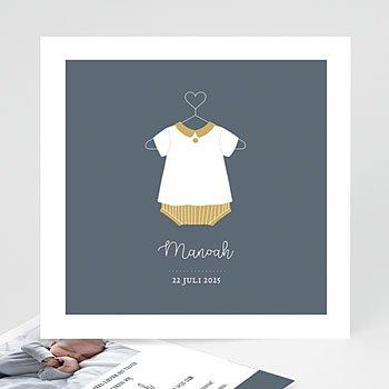 Geboortekaartje jongen - Baby Bloomer - 0