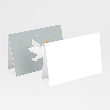 Plaatskaartjes Communie - Holly Spirit Grijs - 0