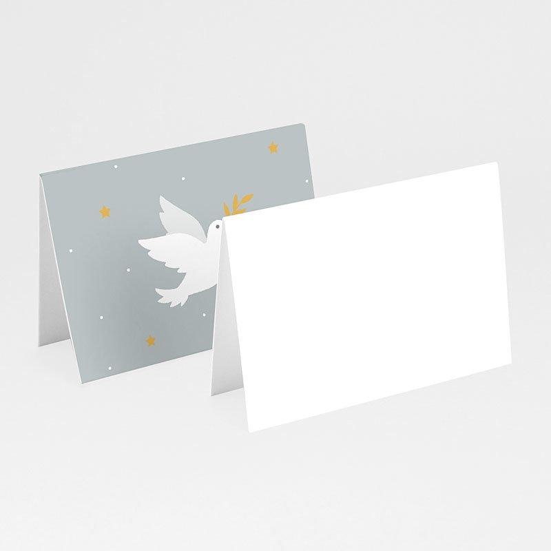 Plaatskaartjes Communie - Holly Spirit Grijs 62315 thumb