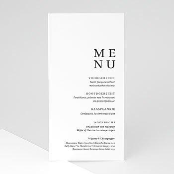 Menukaarten huwelijk - Typografisch en Chic - 0