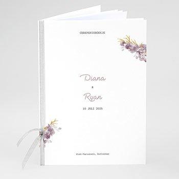 Boekomslag voor trouwboekjes - Vintage Chic Roze - 0