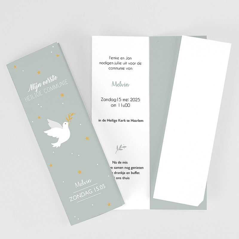 Uitnodiging communie jongen - Vredesambassadeur 62514 thumb