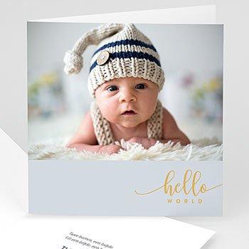 Geboortekaartje jongen - Hello vosje - 0