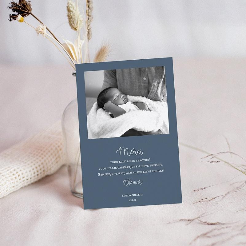 Bedankkaartje geboorte zoon - Nieuwe Maan 62657 thumb