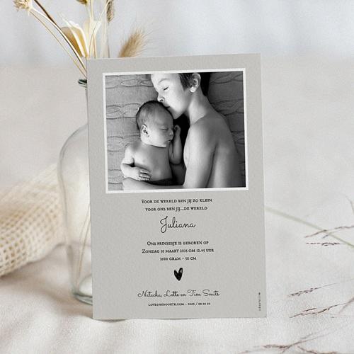 Geboortekaartje meisje Hartjes in Goud pas cher