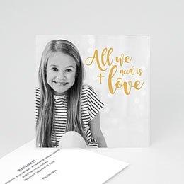 Bedankkaart communie meisje Love Jesus