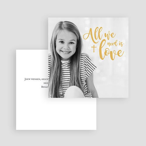 Bedankkaart communie meisje - Love Jesus 62713 thumb