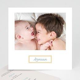 Geboortekaartjes met foto Golden frames