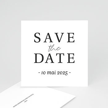 Save the date kaartjes - Typografisch en Chic - 0