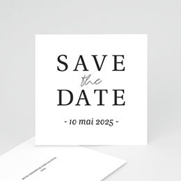 Save the date kaartjes Typografisch en Chic