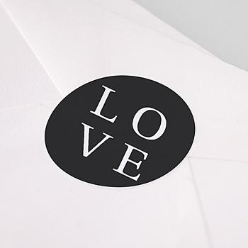 Stickers Huwelijk - Typografisch en Chic - 1