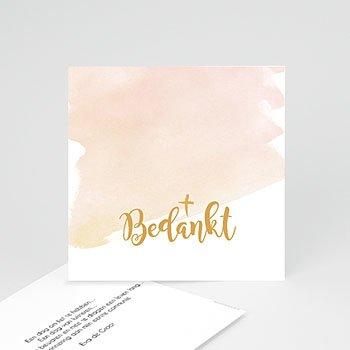 Bedankkaart communie meisje - Watervef en Goud Girl - 0