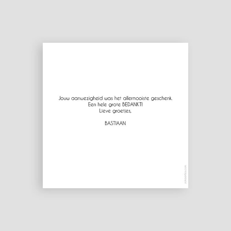 Bedankkaart communie jongen - Waterverf en Goud Boy 63076 thumb