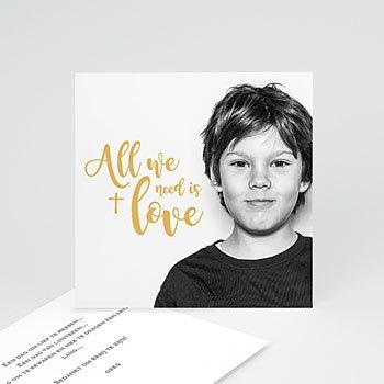 Bedankkaart communie jongen - Jesus loves me - 0