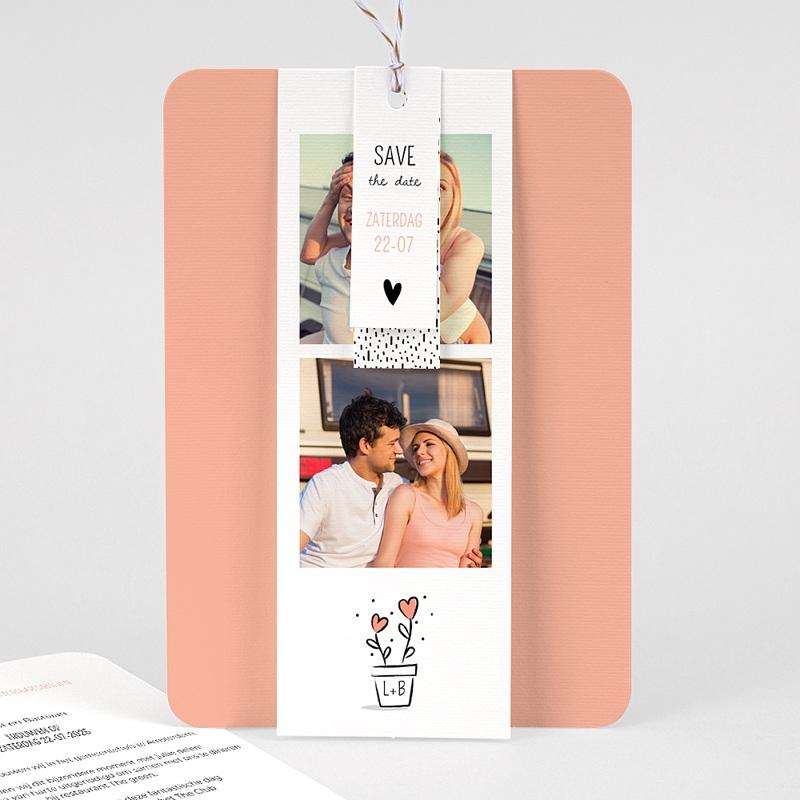 Creatieve trouwkaarten - 2 harten 63102 thumb