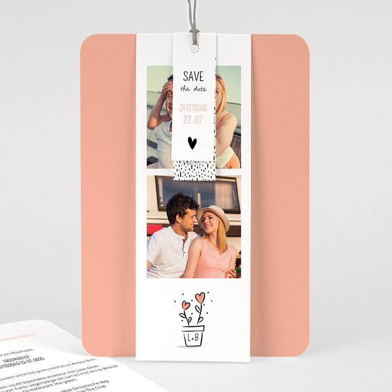 Creatieve trouwkaarten - 2 harten 63104 thumb