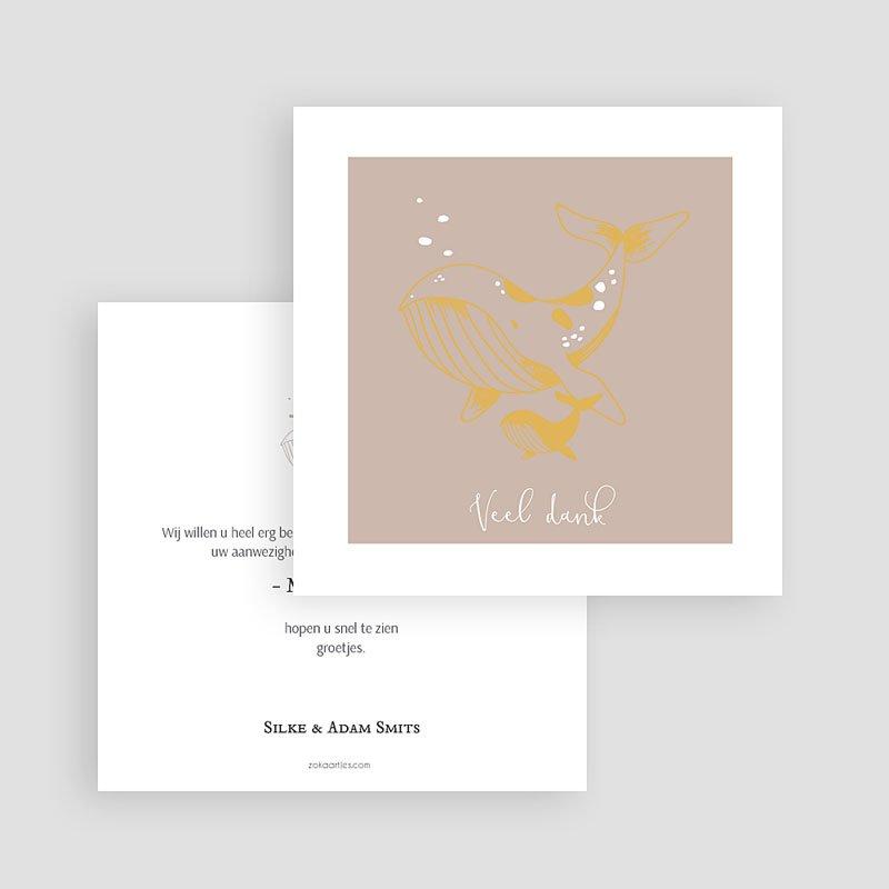 Bedankkaartje geboorte dochter Lieve Walvis gratuit