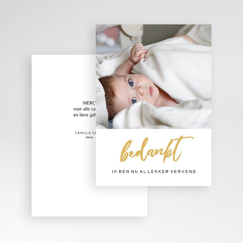 Bedankkaartje geboorte dochter - Merely Love 63176 thumb