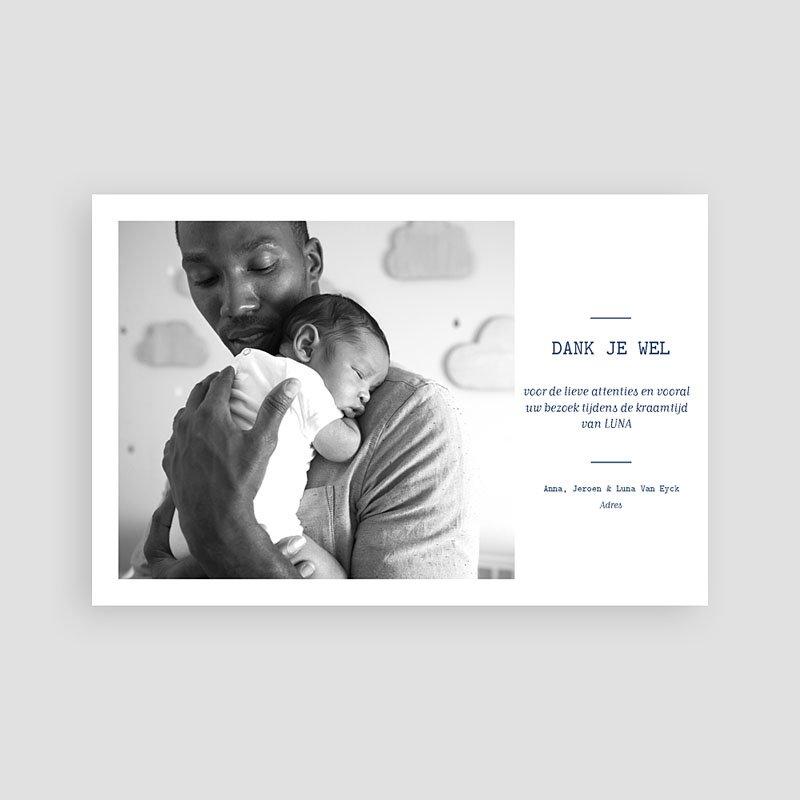 Bedankkaartje geboorte zoon - Luna 63184 thumb