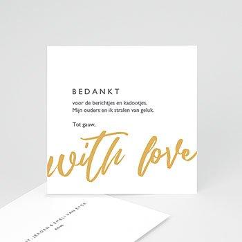Bedankkaartjes geboorte zonder foto - Made With Love - 0