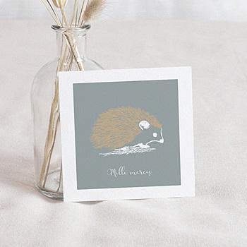 Bedankkaartje geboorte zoon - Kleine Egel & Goud - 0
