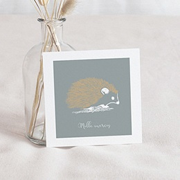 Bedankkaartje geboorte zoon Kleine Egel & Goud