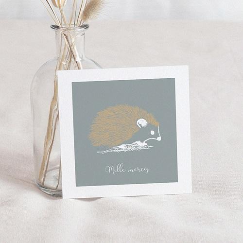 Bedankkaartje geboorte zoon - Kleine Egel & Goud 63285 thumb
