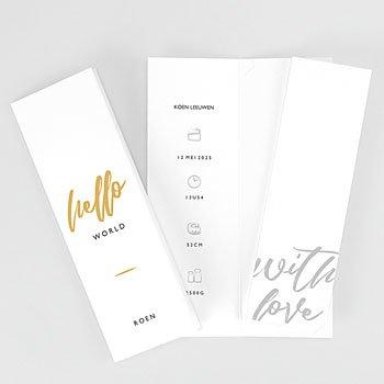 Geboortekaartje jongen - Hello with Love - 0