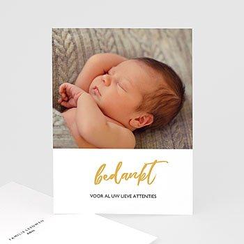Bedankkaartje geboorte zoon Hello with Love