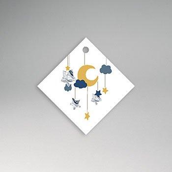Etiket geboorte - Nieuwe Maan - 0
