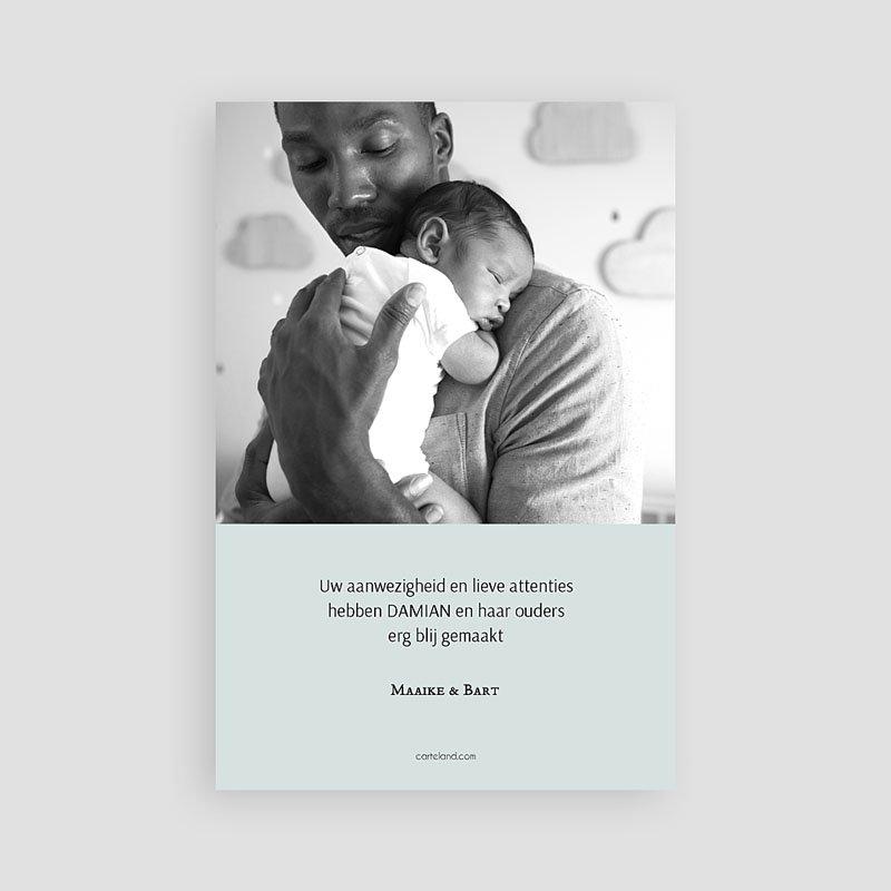 Bedankkaartje geboorte zoon Motief & Goud pas cher