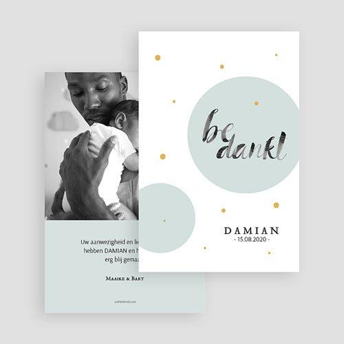 Bedankkaartje geboorte zoon Motief & Goud gratuit