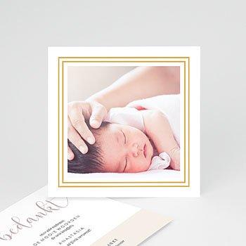 Bedankkaartjes geboorte met foto - Golden Hello - 0