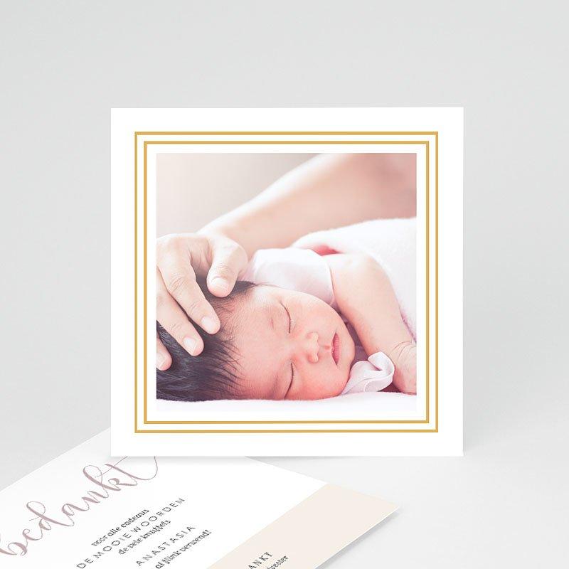Bedankkaartjes geboorte met foto - Golden Hello 63403 thumb