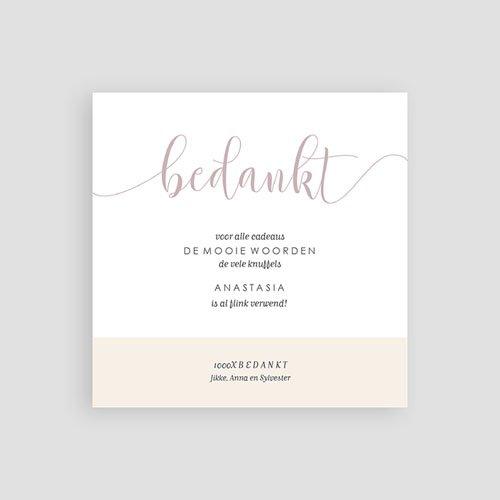 Bedankkaartjes geboorte met foto - Golden Hello 63404 thumb