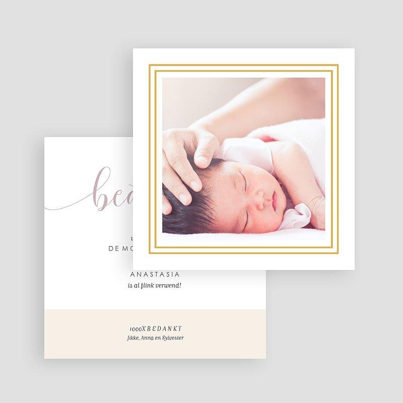 Bedankkaartjes geboorte met foto - Golden Hello 63405 thumb