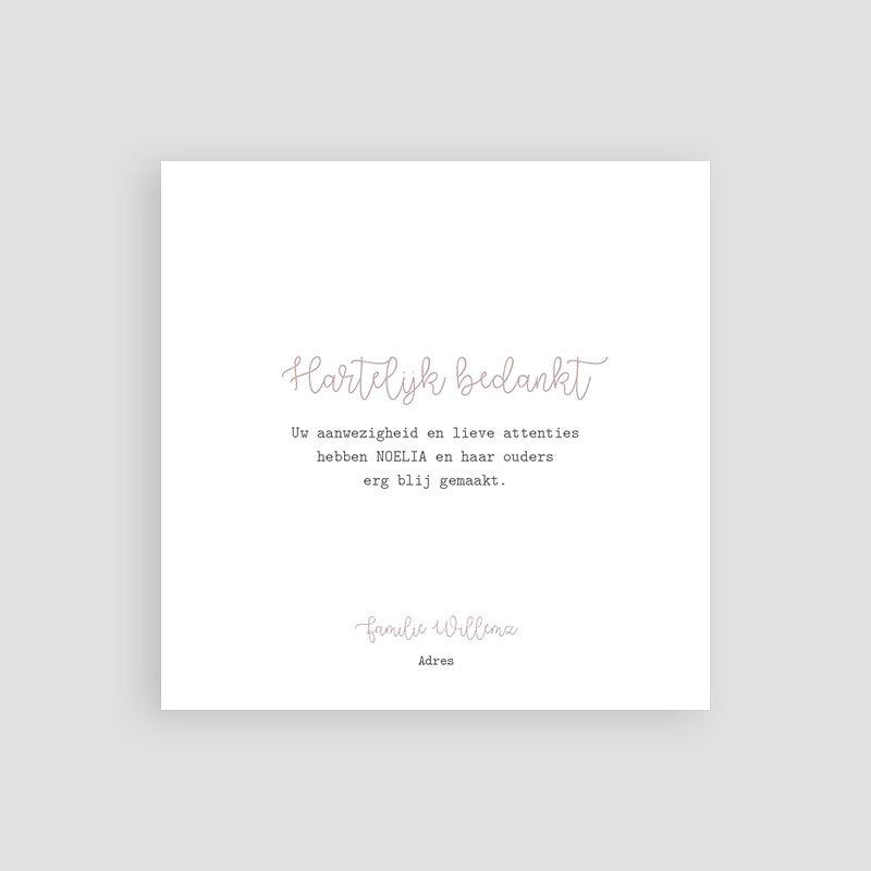 Bedankkaartje geboorte dochter - Green Lines 63428 thumb