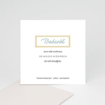Bedankkaartje geboorte zoon - Golden frames - 0