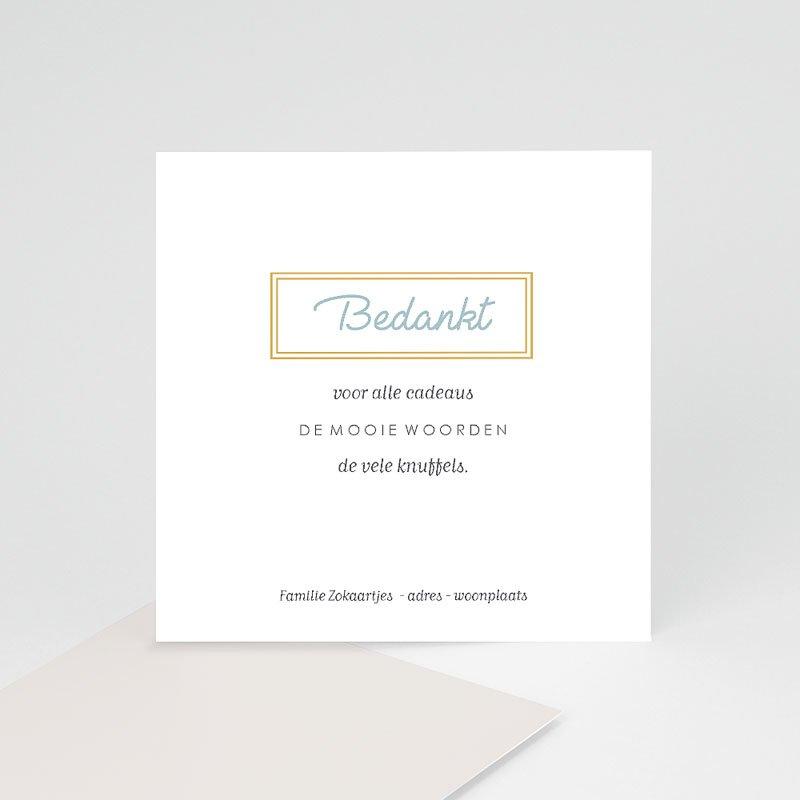 Bedankkaartje geboorte zoon - Golden frames 63454 thumb