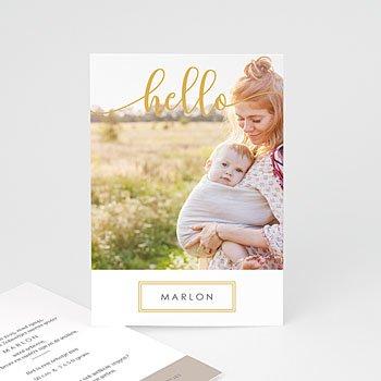 Geboortekaartjes met foto Goud Hallo