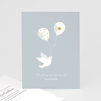 Klassieke bedankkaarten doopsel - Peace Loving - 0