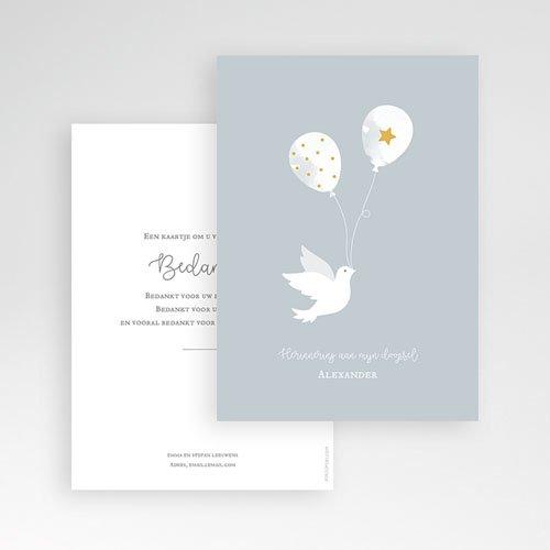 Klassieke bedankkaarten doopsel - Peace Loving 63480 thumb