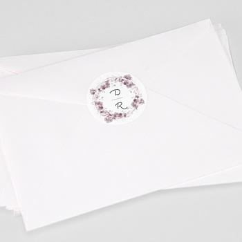 Stickers Huwelijk - Vintage Chic Roze - 0