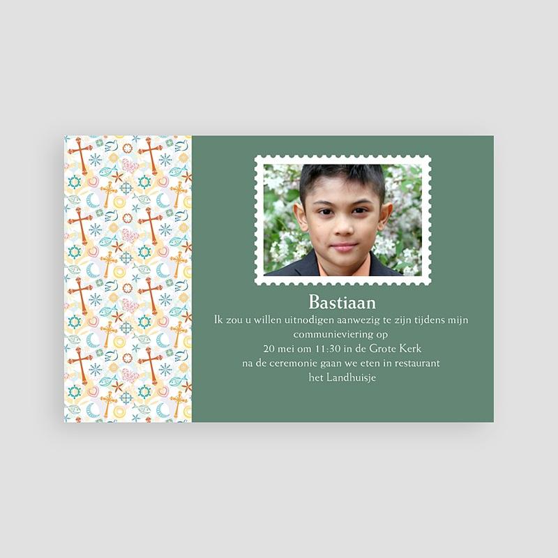 Uitnodiging communie jongen - Tussen de symboliek 63683 thumb