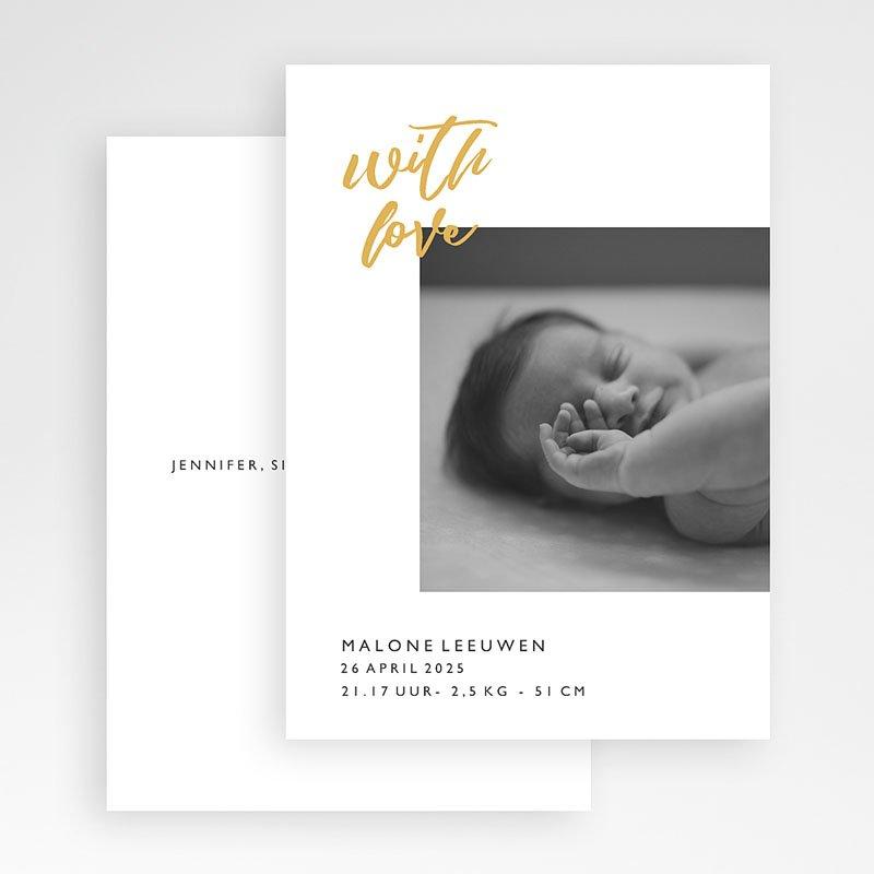 Geboortekaartjes met Foto With Love Only gratuit